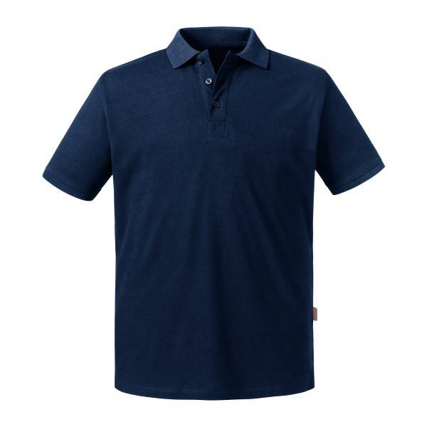 Russell Athletic Pure Organic Men Polo - Navy-2  - Size: 508M - Color: Merensininen
