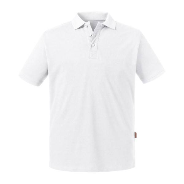 Russell Athletic Pure Organic Men Polo - White  - Size: 508M - Color: valkoinen