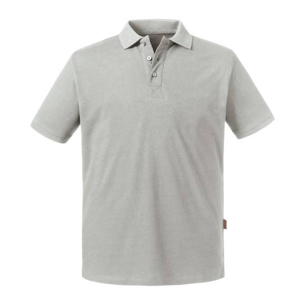Russell Athletic Pure Organic Men Polo - Grey  - Size: 508M - Color: harmaa