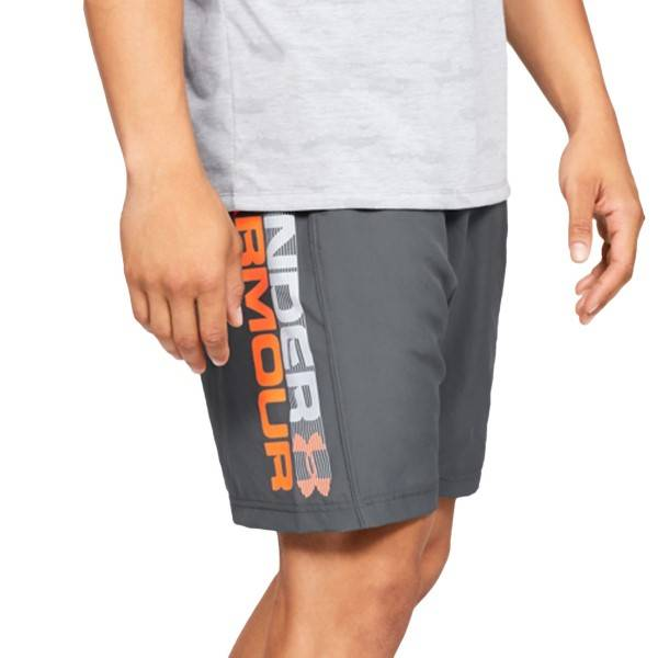 Under Armour Woven Graphic Wordmark Shorts - Grey  - Size: 1320203-012 - Color: harmaa