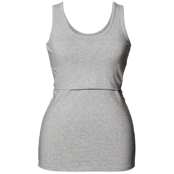 Boob Nursing Singlet - Light grey  - Size: 0350 - Color: vaaleanharm.
