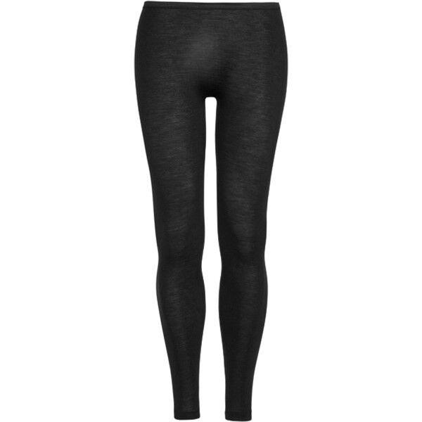 Hanro Woolen Silk Longleg Black - Black
