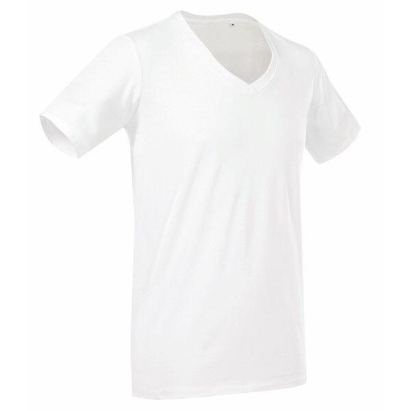 Stedman Dean Deep V-neck - White