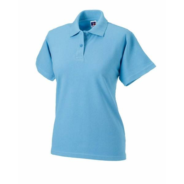 Russell Athletic F Classic Cotton Polo - Skyblue  - Size: 569F - Color: taivaansininen