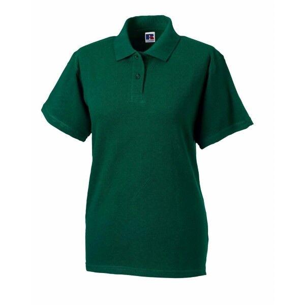 Russell Athletic F Classic Cotton Polo - Darkgreen  - Size: 569F - Color: tummanvihr.