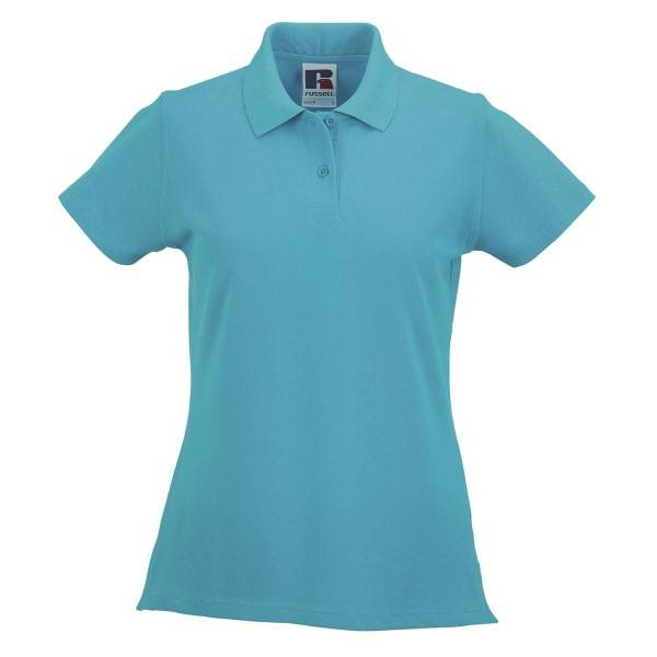 Russell Athletic F Classic Cotton Polo - Turquoise  - Size: 569F - Color: Turkoosi