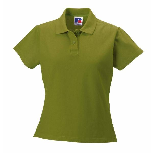 Russell Athletic F 100% Cotton Durable Polo - Green  - Size: 577F - Color: vihreä