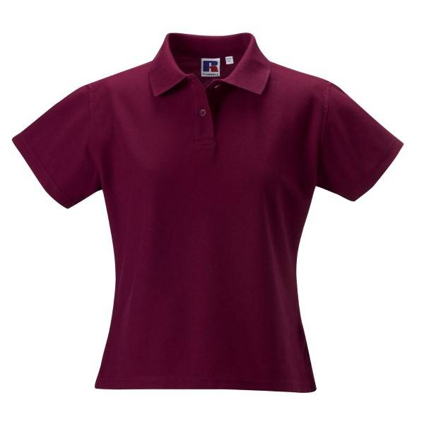 Russell Athletic F 100% Cotton Durable Polo - Wine red  - Size: 577F - Color: viininpun.