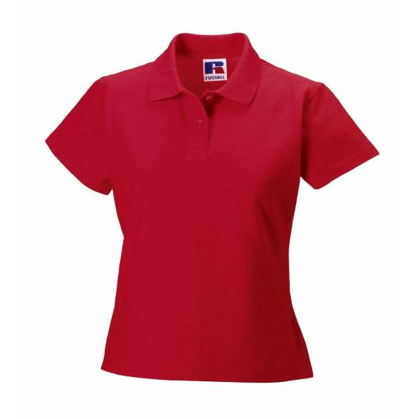 Russell Athletic F 100% Cotton Durable Polo - Red  - Size: 577F - Color: punainen