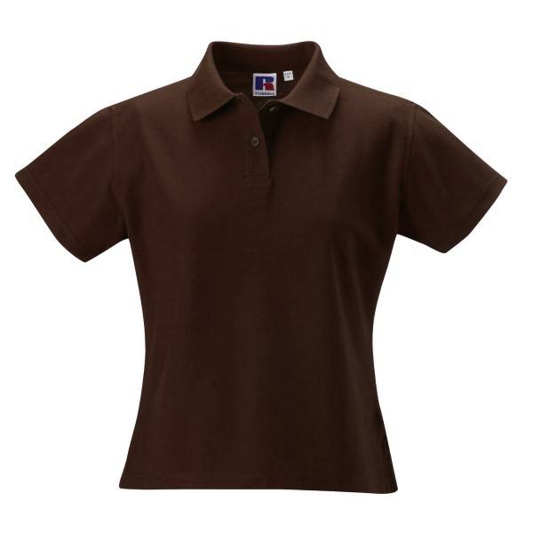 Russell Athletic F 100% Cotton Durable Polo - Brown  - Size: 577F - Color: ruskea
