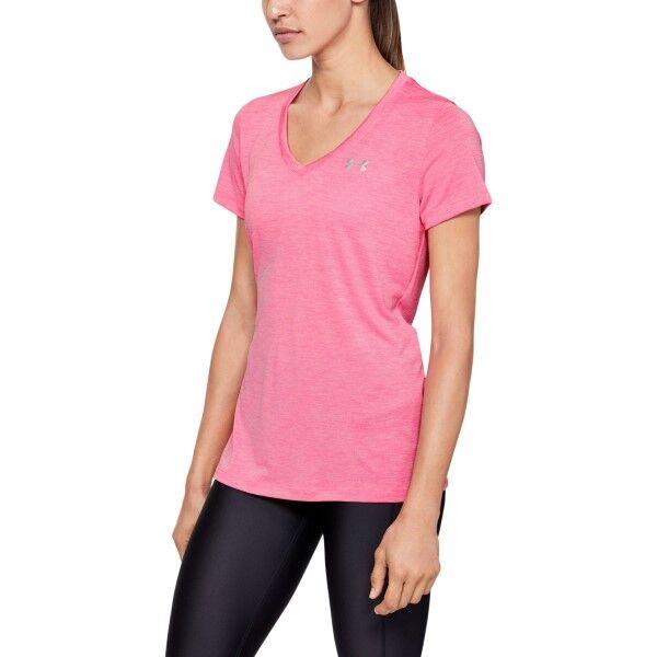 Under Armour Twist Tech Tee - Lightpink  - Size: 1258568 - Color: vaalea roosa