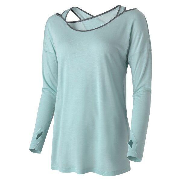 Casall Wrap Long Sleeve - Lightblue * Kampanja *  - Size: 17204 - Color: vaalean sin.