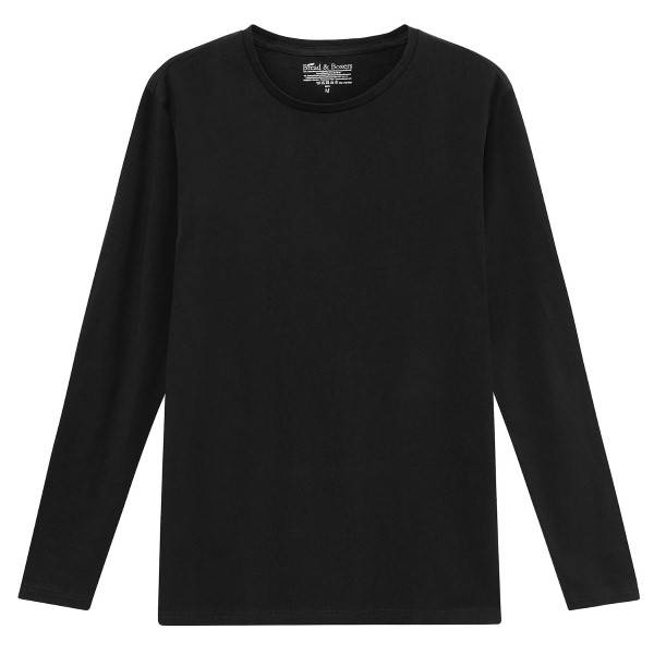 Bread & Boxers Bread and Boxers Long Sleeve Crew Neck - Black  - Size: 116302 - Color: musta