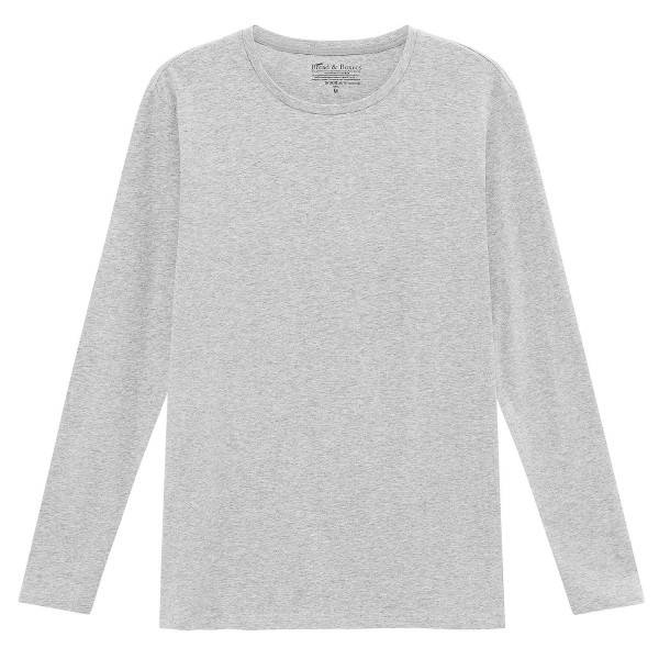Bread & Boxers Bread and Boxers Long Sleeve Crew Neck - Grey  - Size: 116103 - Color: harmaa