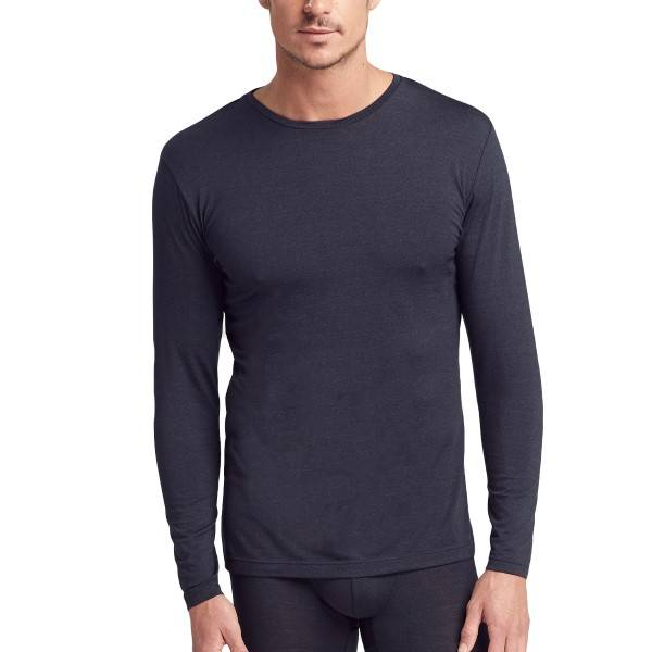 Jockey Wool Longsleeve Shirt 3XL - Black  - Size: 19600717 - Color: musta