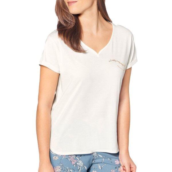 Triumph Lounge Me Cotton Mix and Match SSL Top - White * Kampanja *  - Size: 10194860 - Color: valkoinen