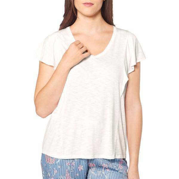 Triumph Lounge Me Natural Mix and Match Top 01 - White * Kampanja *  - Size: 10194859 - Color: valkoinen