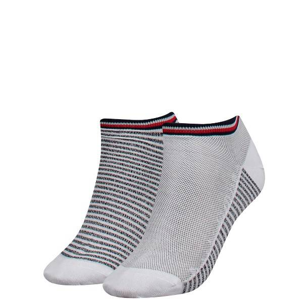 Tommy Hilfiger 2 pakkaus Women Resort Sneaker Sock - White