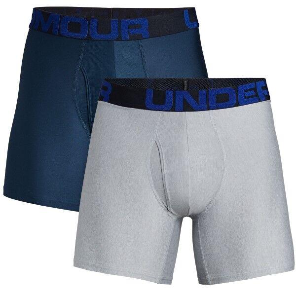 Under Armour 2 pakkaus Tech Boxerjock - Blue/Grey  - Size: 1327415 - Color: sin/harm