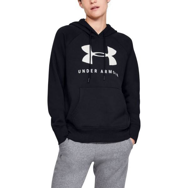 Under Armour Rival Fleece Sportstyle Hoodie - Black  - Size: 1348550 - Color: musta