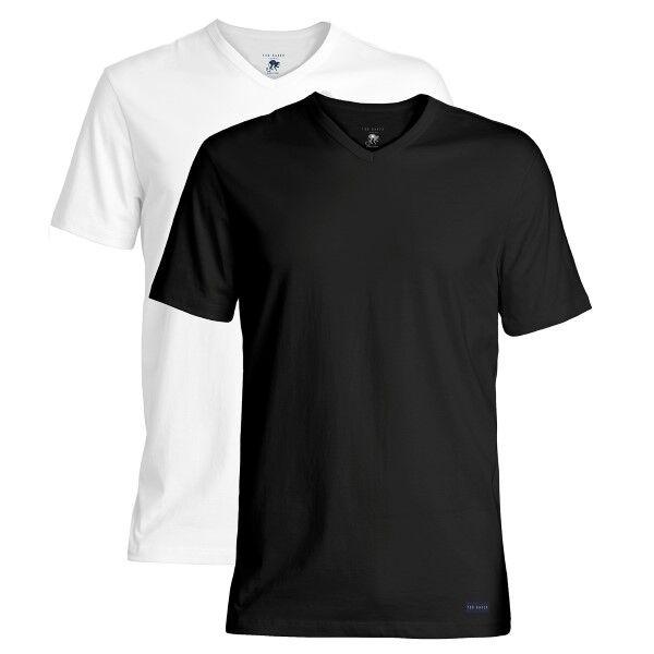 Ted Baker 2 pakkaus Modal Basics V-Neck T-Shirt - Black/White  - Size: 170739 - Color: musta/valk