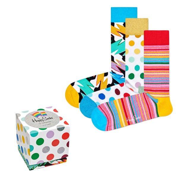 Happy socks 3 pakkaus Mixed Pride Gift Box - Mixed  - Size: XPRI0 - Color: Multi-colour