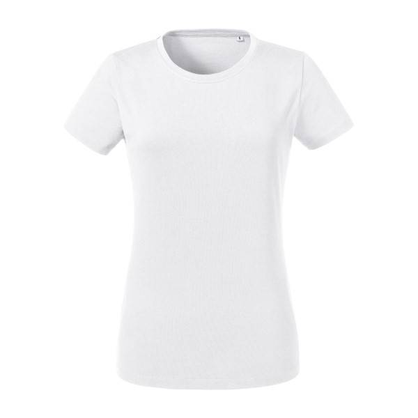 Russell Athletic Pure Organic Women Heavy Tee T-shirt - White  - Color: valkoinen