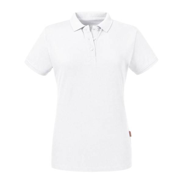 Russell Athletic Pure Organic Women Polo - White  - Size: 508F - Color: valkoinen