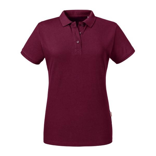 Russell Athletic Pure Organic Women Polo - Wine red  - Size: 508F - Color: viininpun.