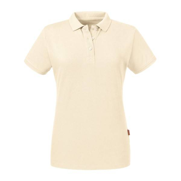 Russell Athletic Pure Organic Women Polo - Creme  - Size: 508F - Color: Kermanvärinen