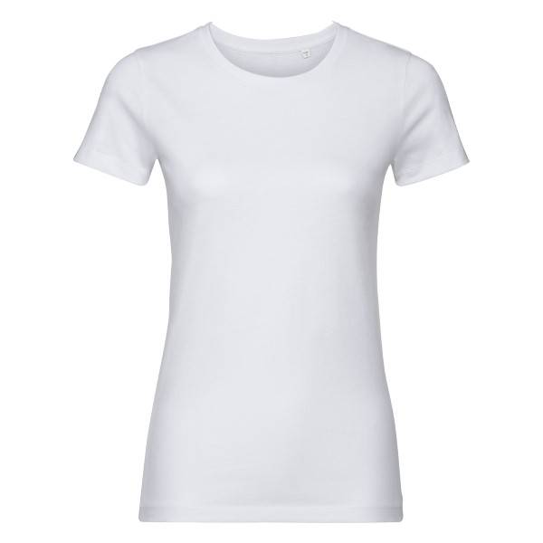 Russell Athletic Pure Organic Authentic Women T-shirt - White  - Size: 108F - Color: valkoinen