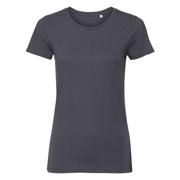 Russell Athletic Pure Organic Authentic Women T-shirt - Darkgrey  - Size: 108F - Color: tummanharm