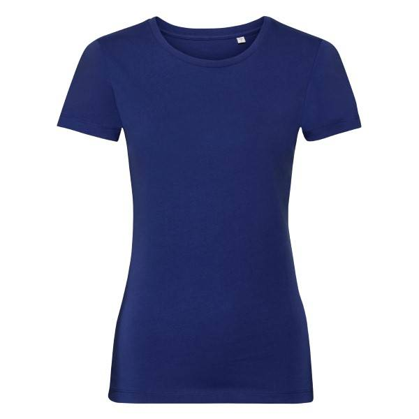 Russell Athletic Pure Organic Authentic Women T-shirt - Blue  - Size: 108F - Color: sininen