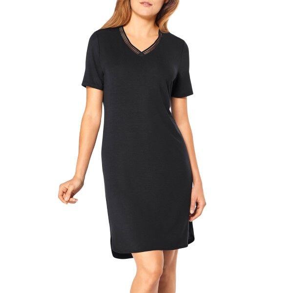 Triumph Lounge Me Climate Control Night Dress - Black  - Size: 10194669 - Color: musta