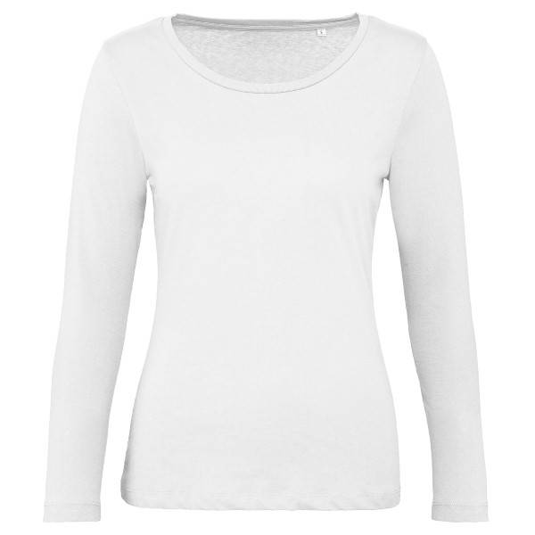 B & C Collection B and C Organic Inspire Women Long Sleeve T - White  - Size: TW071 - Color: valkoinen