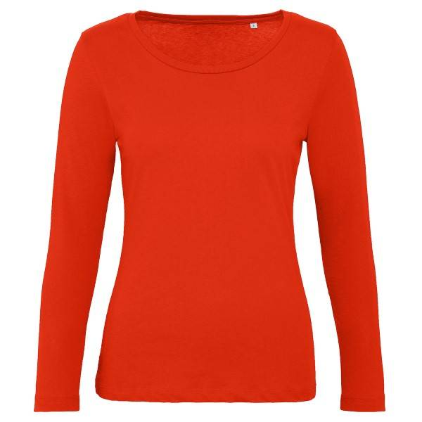 B & C Collection B and C Organic Inspire Women Long Sleeve T - Red  - Size: TW071 - Color: punainen