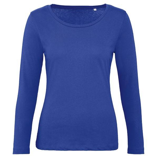 B & C Collection B and C Organic Inspire Women Long Sleeve T - Blue  - Size: TW071 - Color: sininen