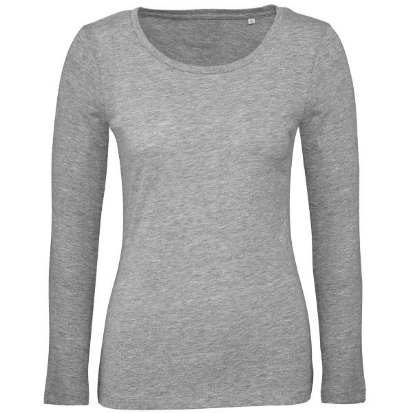 B & C Collection B and C Organic Inspire Women Long Sleeve T - Grey  - Size: TW071 - Color: harmaa