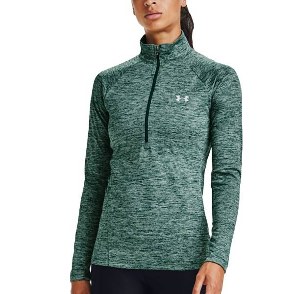 Under Armour Tech Twist Half Zip - Green  - Size: 1320128-386 - Color: vihreä