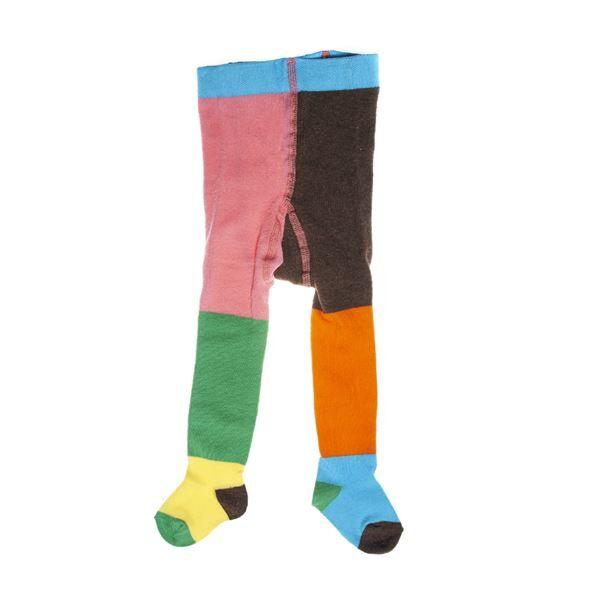 Happy socks Block Tights Stripe UPP - Orange * Kampanja *