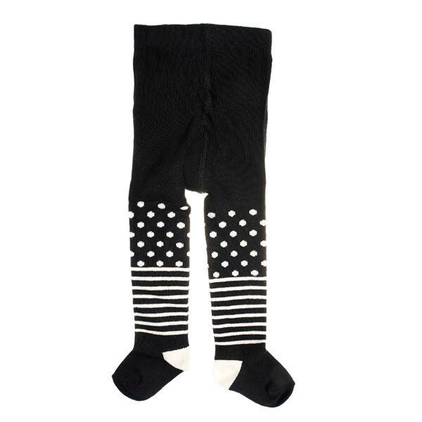 Happy socks Kids Tights Stripe Dots Black - Black * Kampanja *