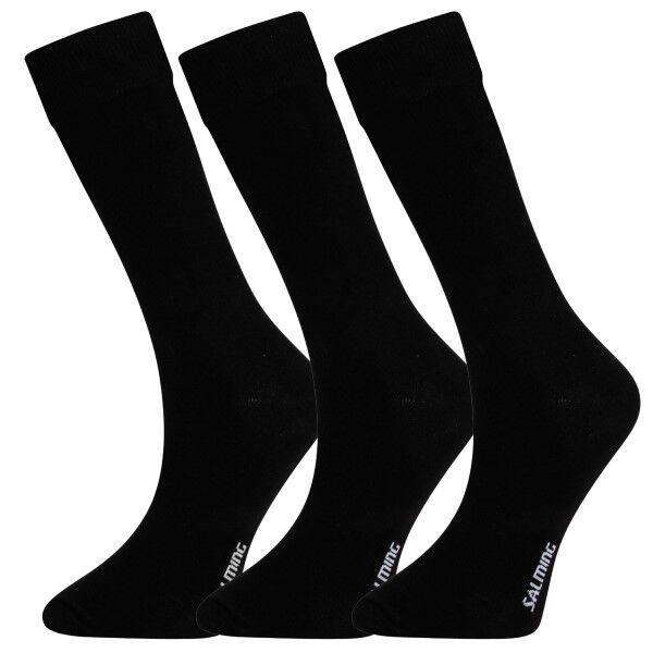Salming 3 pakkaus No Nonsense Men Socks - Black  - Size: 800038 - Color: musta