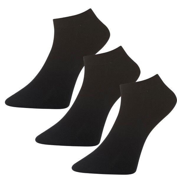 Salming 3 pakkaus No Nonsense Men Low Socks - Black  - Size: 800068 - Color: musta