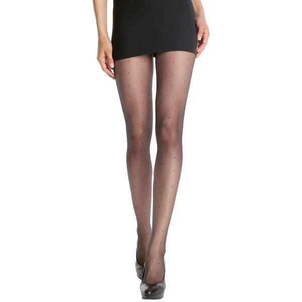 DIM. Mod Pantyhose Effet Plumetis - Black * Kampanja *