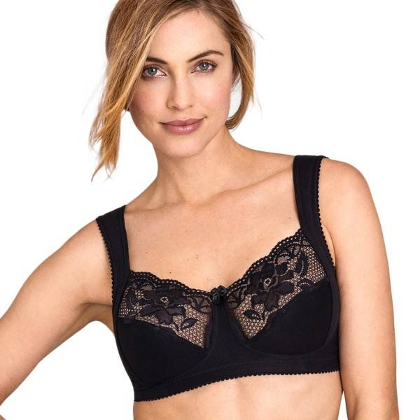 Miss Mary of Sweden Miss Mary Lovely Lace Soft Bra - Black  - Size: 2105 - Color: musta