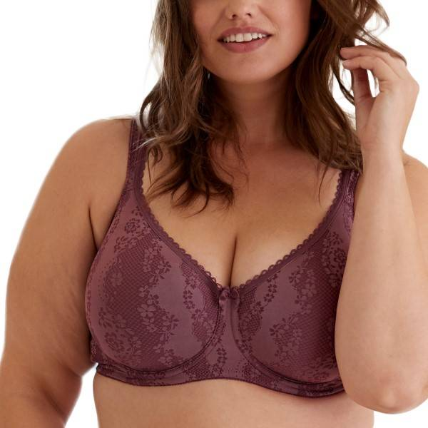 Swegmark Adamo Padded Soft Wired Bra - Plum  - Size: 17570 - Color: luumu