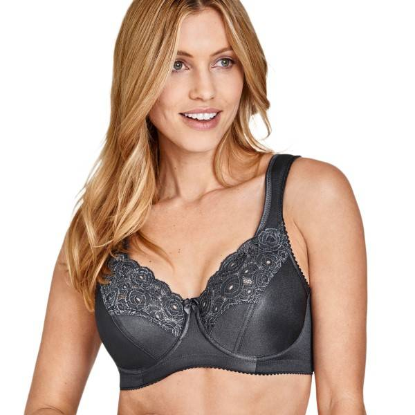 Miss Mary of Sweden Miss Mary Steady Modern Underwire Bra - Grey