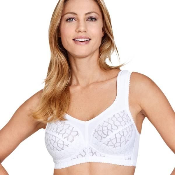 Miss Mary of Sweden Miss Mary Comfortable Soft Cup Bra - White