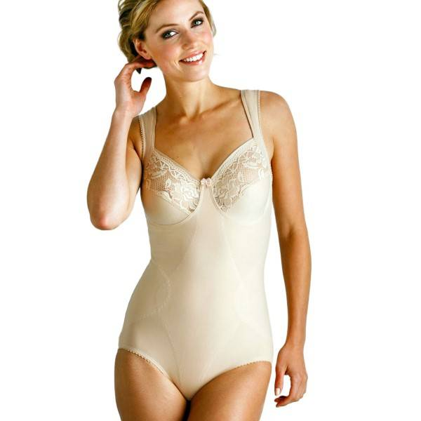 Miss Mary of Sweden Miss Mary Lovely Lace Support Body - Skin  - Size: 3135 - Color: iho