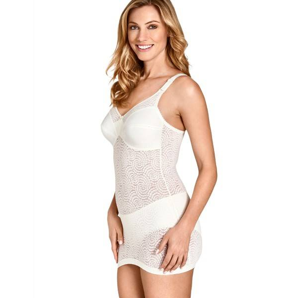 Miss Mary of Sweden Miss Mary Cotton Twirls Body - Champagne  - Size: 3641 - Color: Samppanja